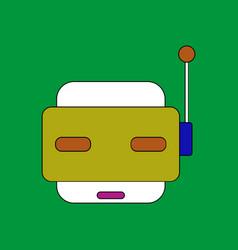 Flat icon design collection toy robot face vector