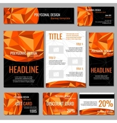 Flyers banners brochures and cards with orange vector image vector image
