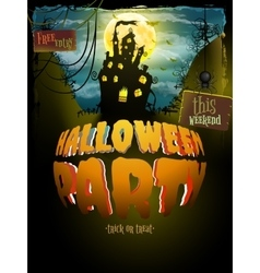 Halloween party EPS 10 vector image