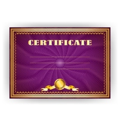 Horizontal royal certificate with lace pattern vector image