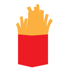 isolated french fries vector image vector image