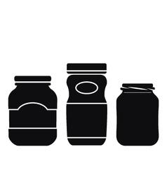 Jar Icons Set vector image vector image
