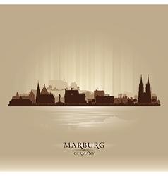 Marburg germany city skyline silhouette vector