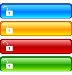 Padlock buttons vector image