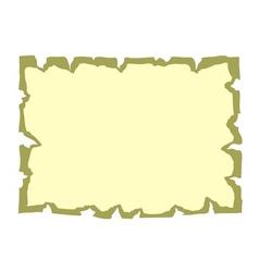 Parchment paper cartoon banner vector image vector image