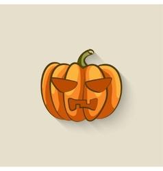 pumpkin halloween symbol vector image vector image