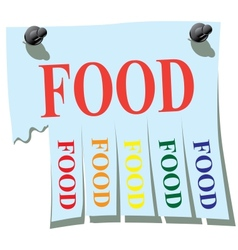 Sticker Food vector image vector image