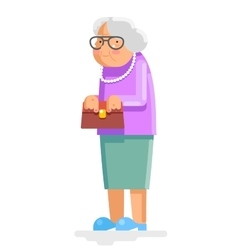 Grandmother old adult flat design vector