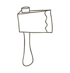 Axe tool icon vector