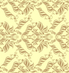 Decorative seamless floral ornament vector