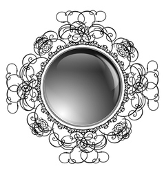 Glossy round frame vector