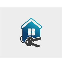 House and key selling and renting vector