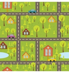 Colourful seamless pattern with streets and roads vector