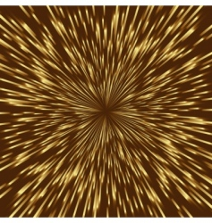 Golden fireworks vector