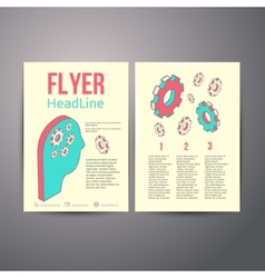 Abstract brochure flyer design human head with vector