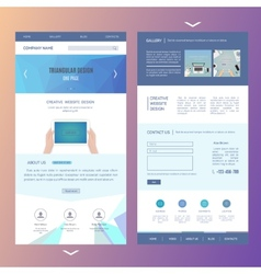modern one page website template design with vector image