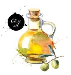 Olive bottle  hand drawn vector