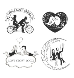 Love story logo symbol for your design vector
