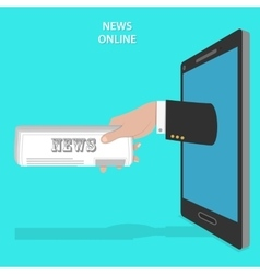 Online news service flat concept vector image