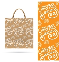 Holiday pattern over paper package vector