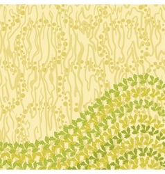 Abstract pattern and leaves vector image vector image