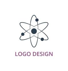 an atom logo vector image