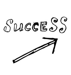 arrow success up hand drawn vector image
