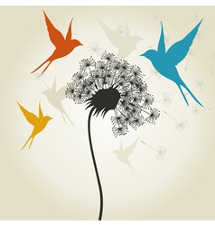 Birds a flower3 vector image vector image