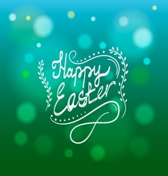 Card with Happy Easter lettering-2 vector image vector image