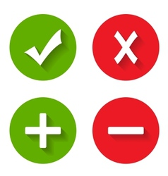 Check mark stickers vector