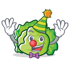 Clown lettuce character mascot style vector
