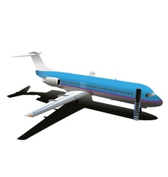Commercial airplane stock vector