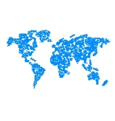 Computer graphic World map vector image vector image