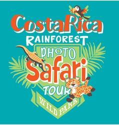 Costa Rica photo safari tour vector image vector image