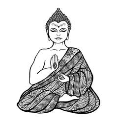 Decorative Buddha Sketch vector image