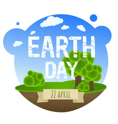 Earth day card with trees vector