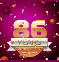 Eighty six years anniversary celebration design vector