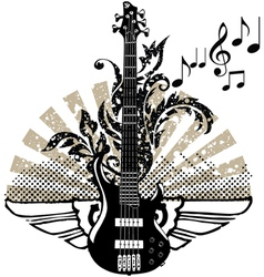 Electric guitar design vector