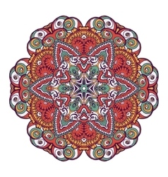 Ethnic tribal round ornament colorful mandala for vector