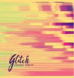 Glitch effect in retro colors vector