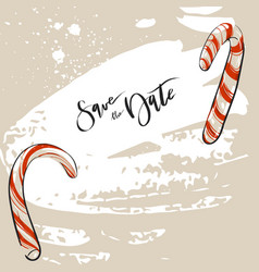 hand drawn abstract christmas decoration vector image