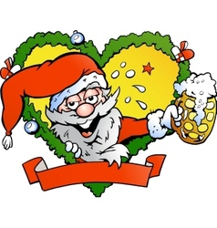 Hand-drawn of an drunk santa vector image vector image