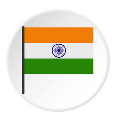 Indian flag icon circle vector