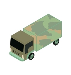 Isometric military truck vector