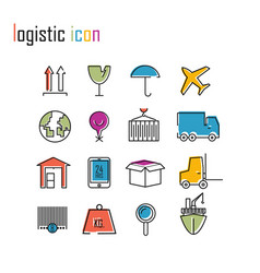 line icons logistics icons modern infographic logo vector image