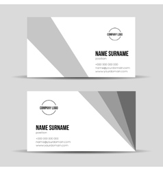 Modern grey business card template vector image vector image