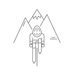 Modern of cyclist from front view vector image