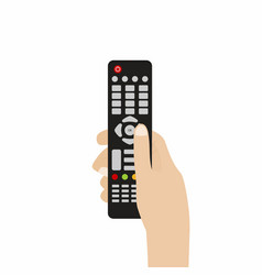 Remote control for tv hand holding tv remote vector