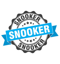 Snooker stamp sign seal vector