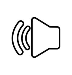Speaker sound symbol isolated icon vector